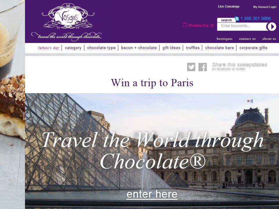 Travel the World Through Chocolate Paris Sweepstakes