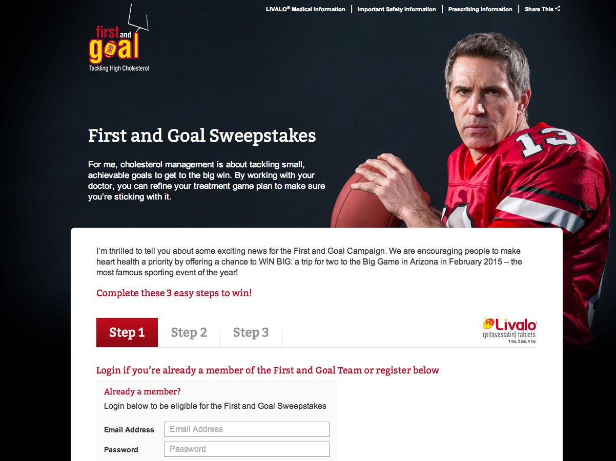 First and Goal Sweepstakes
