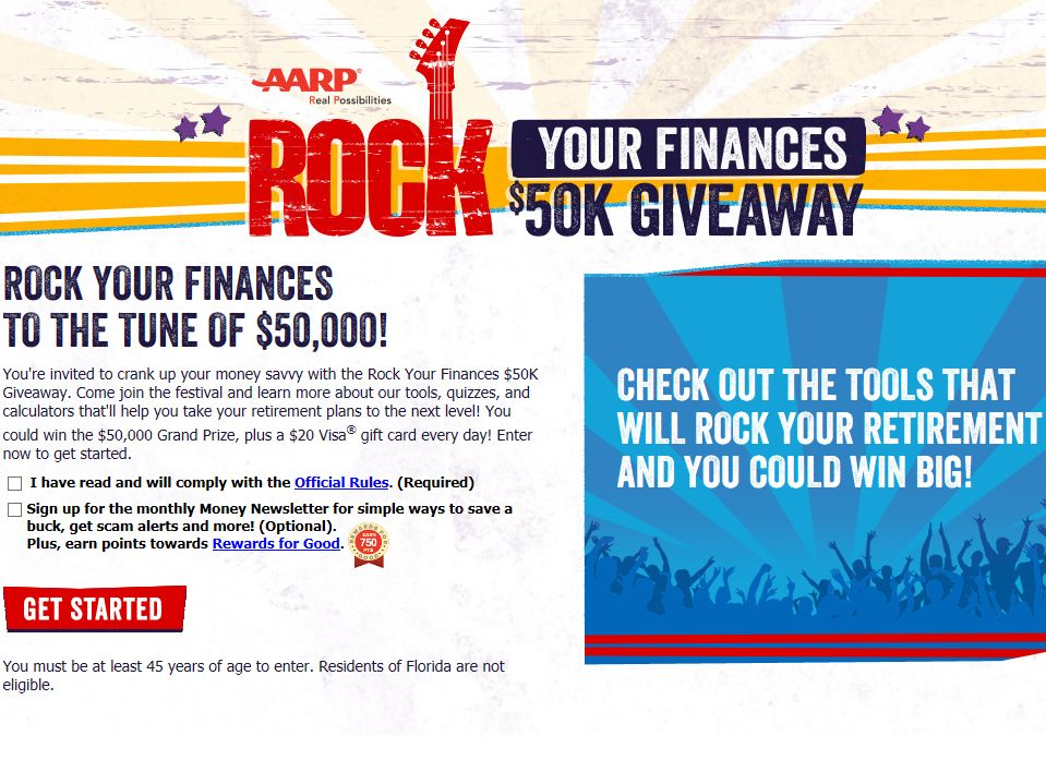 Rock Your Finances $50K Giveaway Sweepstakes