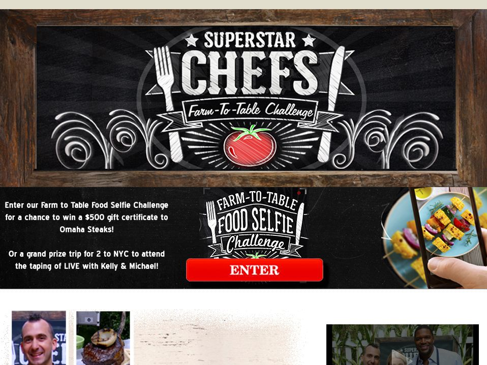 LIVE's Farm-to-Table Food Selfie Challenge Sweepstakes