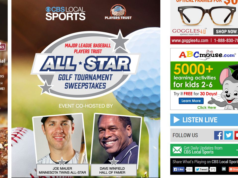 MLBPA All-Star Golf Tournament Sweepstakes