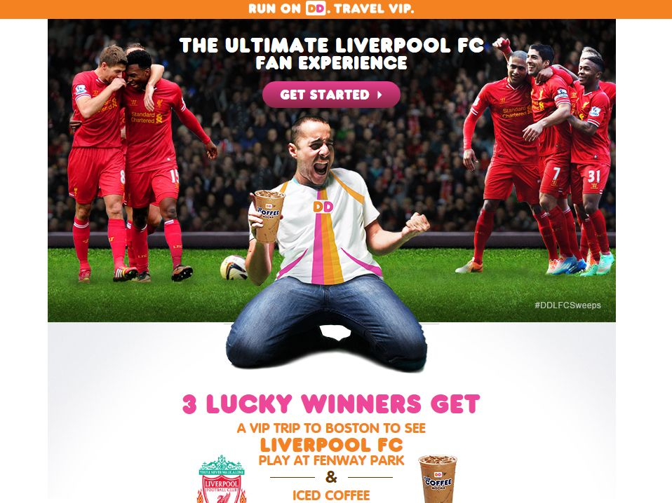 Dunkin' Donuts Ultimate Liverpool FC Fan Experience Sweepstakes