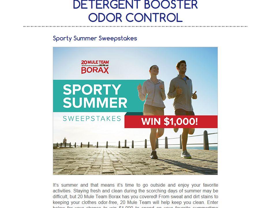 "20 Mule Team Borax ""Sporty Summer"" Sweepstakes"