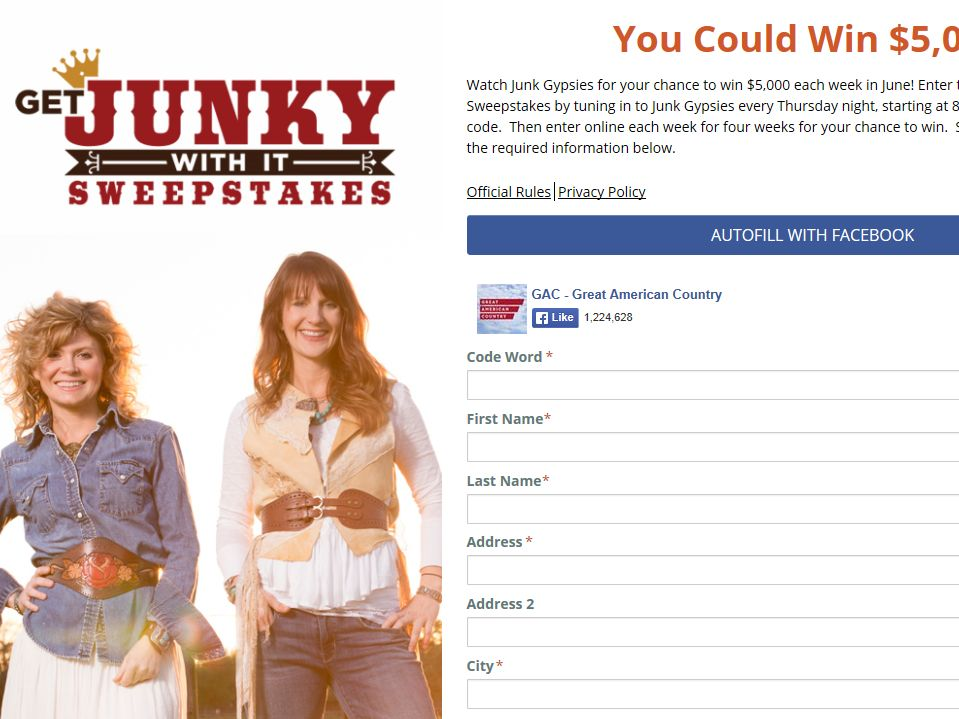 Get Junky With It Sweepstakes