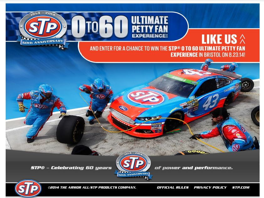 STP 0 TO 60 Ultimate Petty Fan Experience Sweepstakes