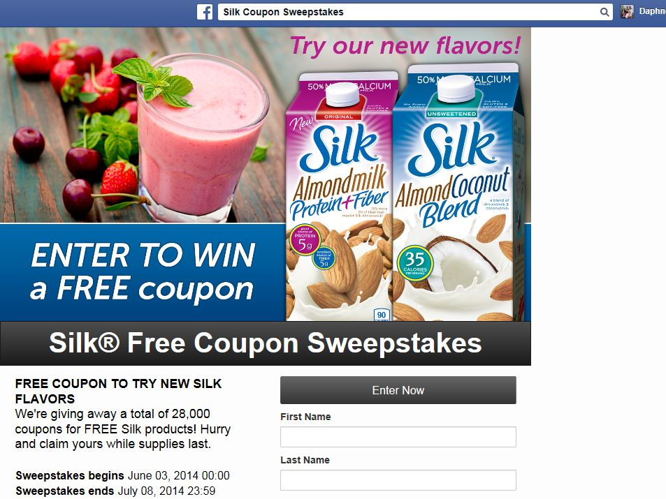 Silk U.S. New Almond Sweepstakes
