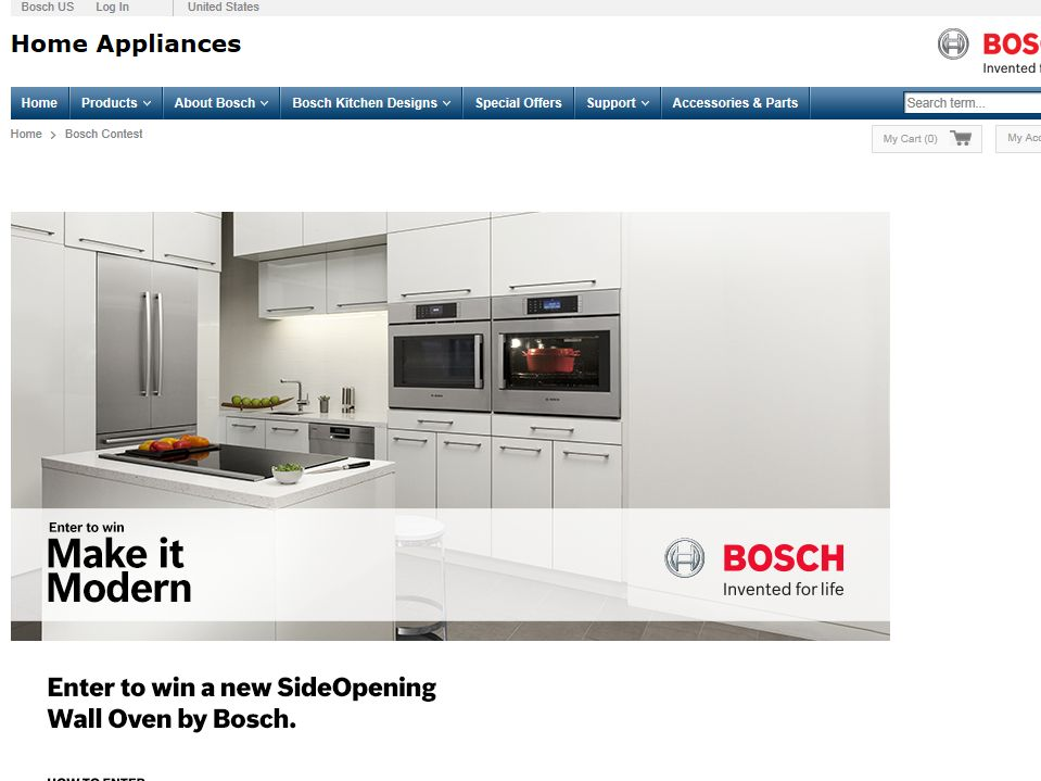 Bosch Make It Modern Giveaway Sweepstakes
