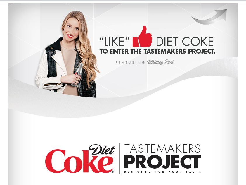 Diet Coke TASTEMAKERS Project Sweepstakes