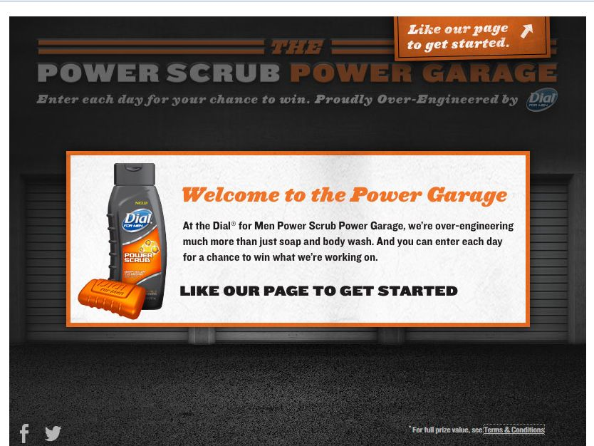 """Dial for Men """"Power Garage"""" Sweepstakes"""