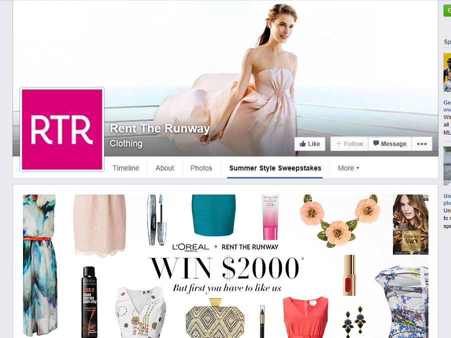 Rent the Runway + L'Oreal Paris Summer Soirees Sweepstakes