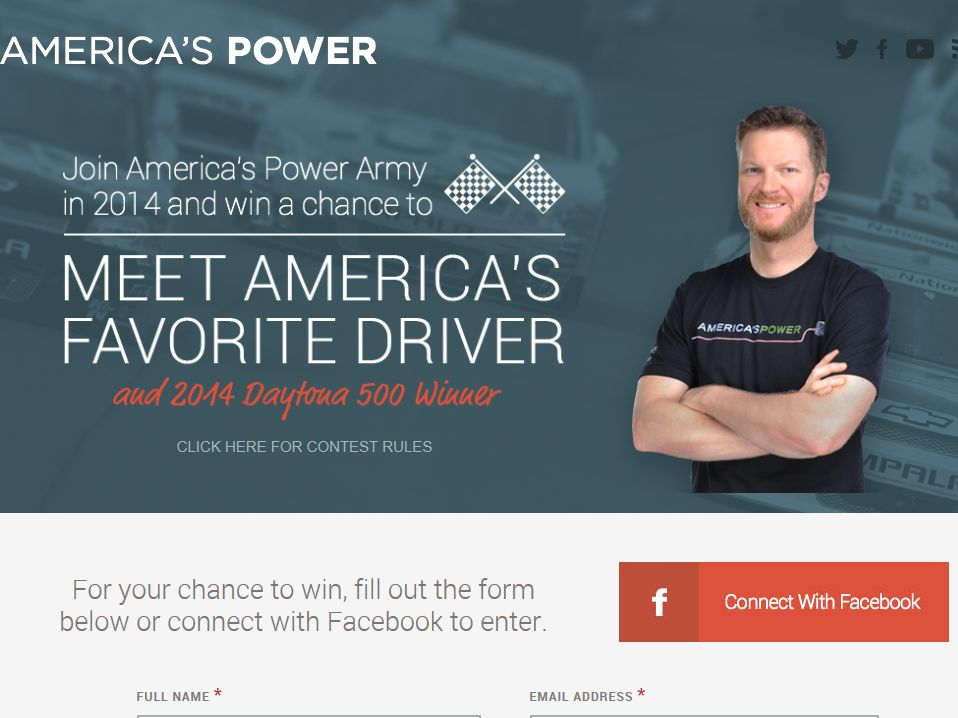 America's Power Army Race Week Sweepstakes