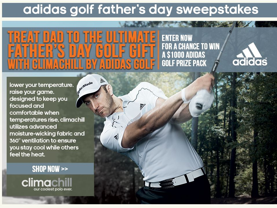 Adidas Golf, Dad's Day at the Course Sweepstakes