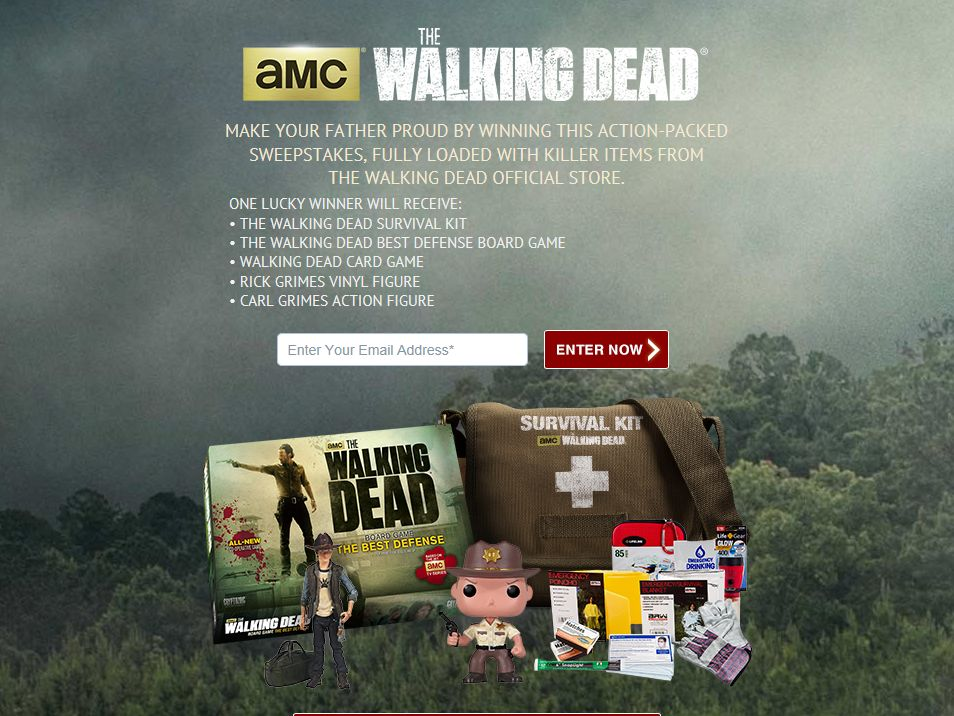 """Walking Dead Store """"Remember Dad With The Dead"""" Giveaway Sweepstakes"""