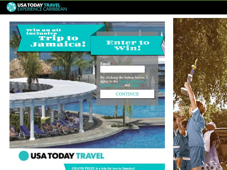 USA TODAY Travel Caribbean Trip Giveaway Sweepstakes