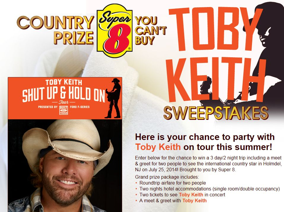 Toby keith country prize you cant buy sweepstakes m4hsunfo