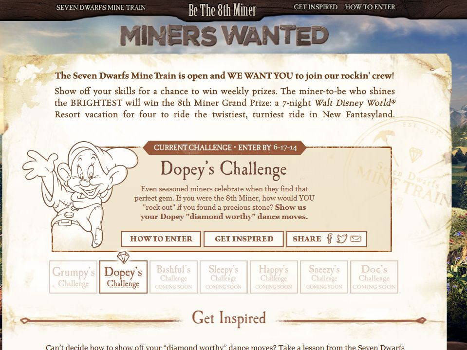 Disney's Be The 8th Miner Contest