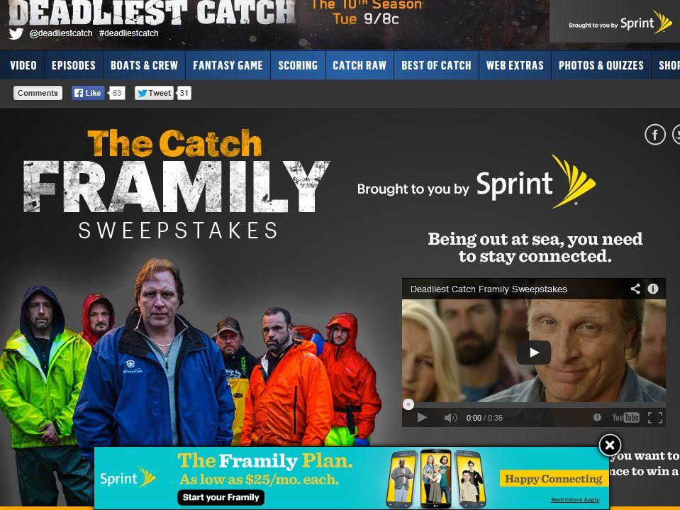 """Deadliest Catch"" – Sprint ""Framily"" Sweepstakes"
