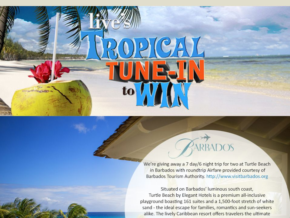 LIVE's Tropical Tune In To Win Sweepstakes