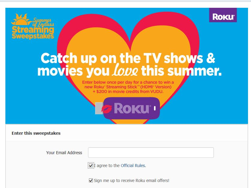 Roku's Summer of Endless Streaming Sweepstakes