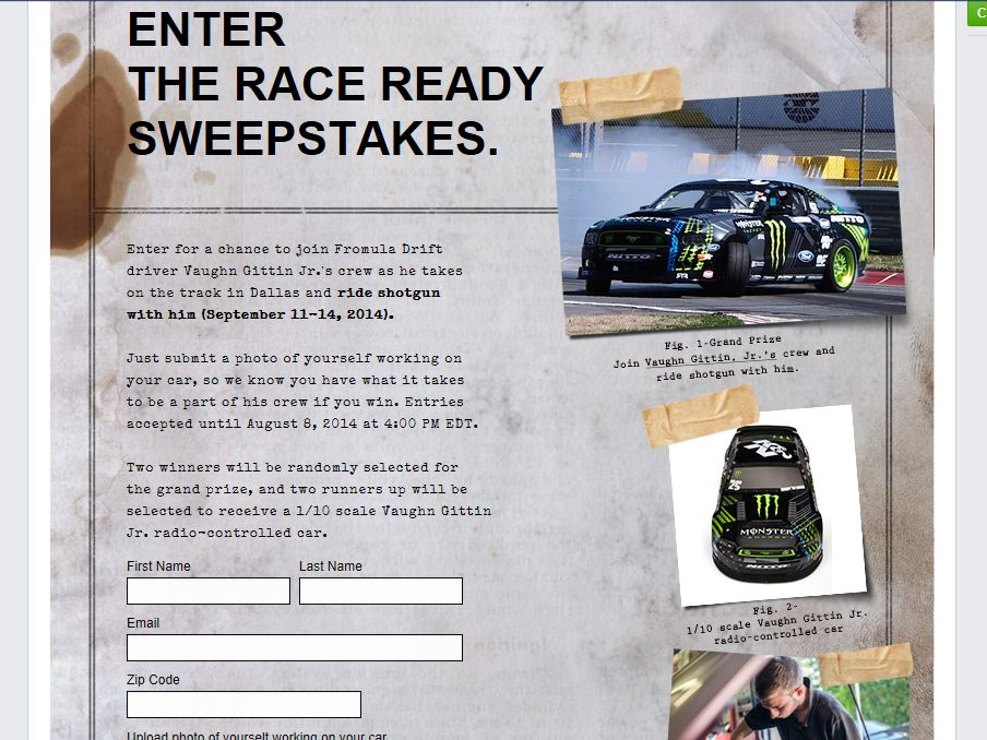 Gumout Race Ready Sweepstakes