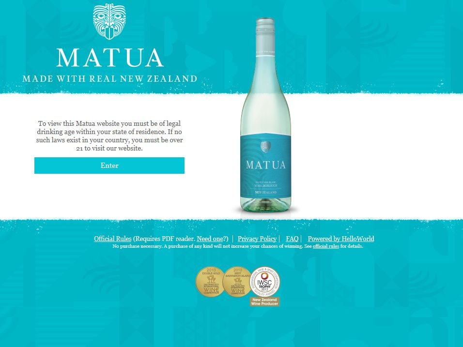 Matua Taste The First Sweepstakes