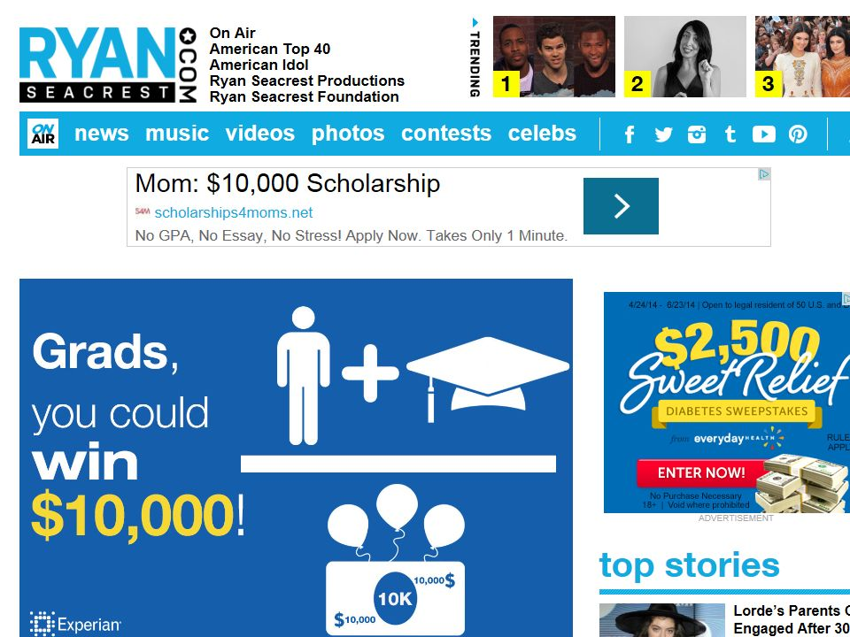 Ryan Seacrest's $10,000 Grad Giveaway Sweepstakes