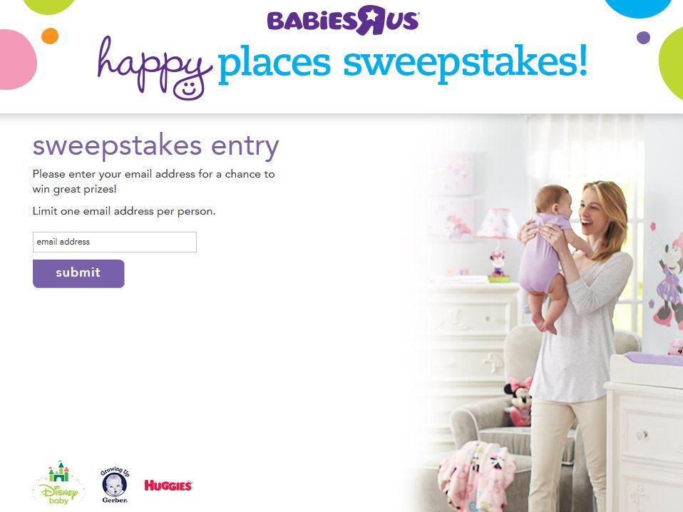 """Babies """"R"""" Us Happy Places Sweepstakes"""