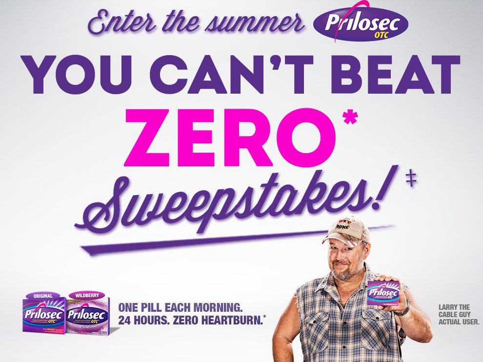 Summer Prilosec OTC You Can't Beat Zero Sweepstakes 2014