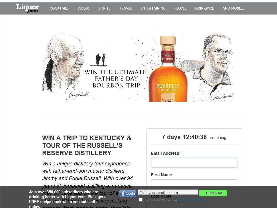 Liquor.com's Father's Day Sweepstakes