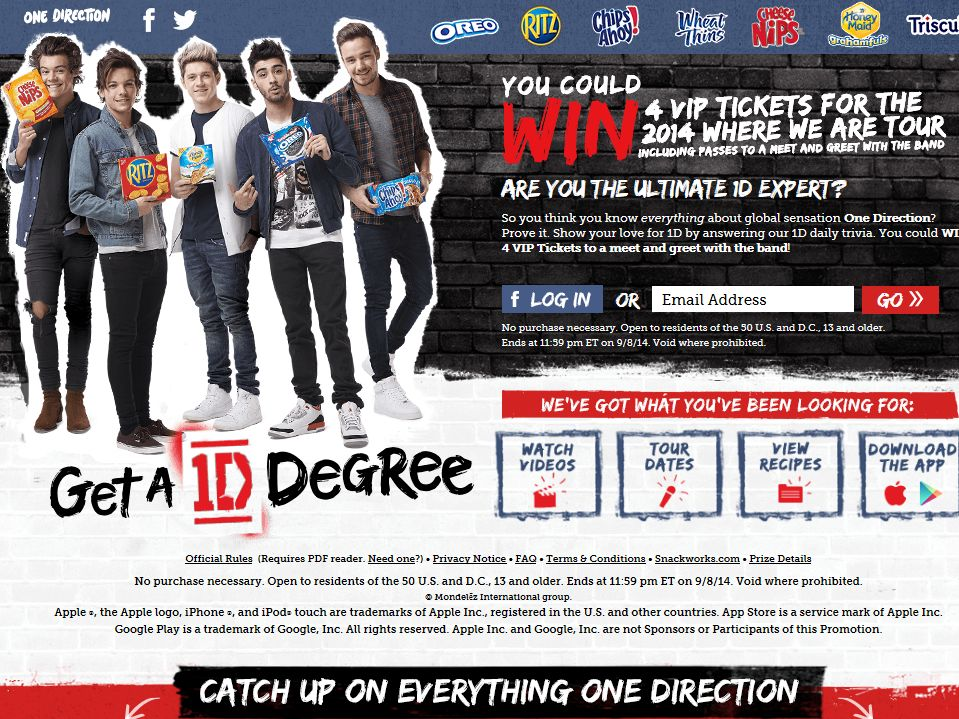 Get A 1D Degree Sweepstakes