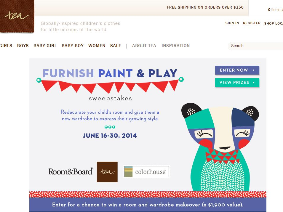 """Tea Collection """"Furnish Paint Play"""" Sweepstakes"""