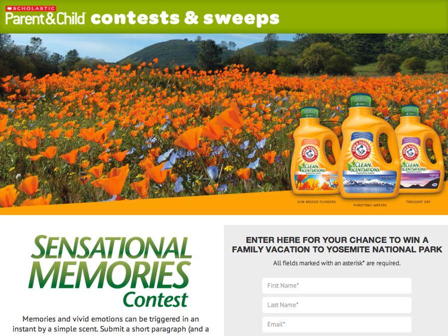 Scholastic Sensational Memories Contest