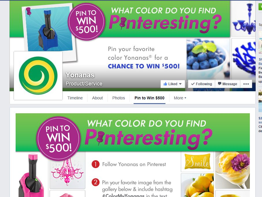 Yonanas What Color Do You Find Pinteresting? Sweepstakes