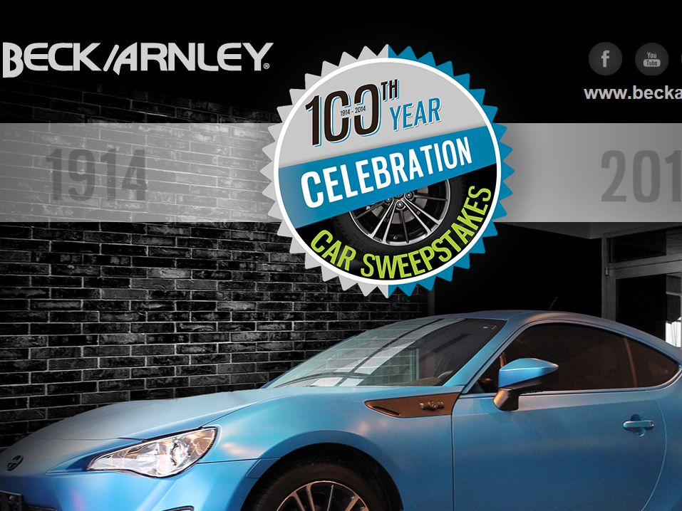 Beck/Arnley's 100th Year Celebration Car Sweepstakes