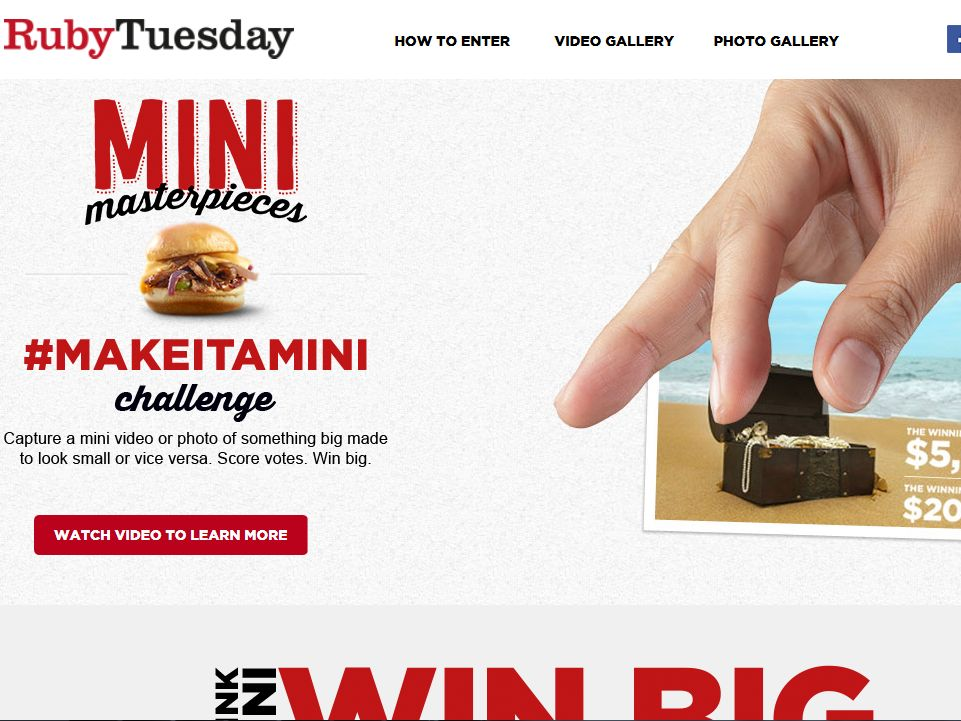 Ruby Tuesday #MakeItaMini Photo and Video Contest