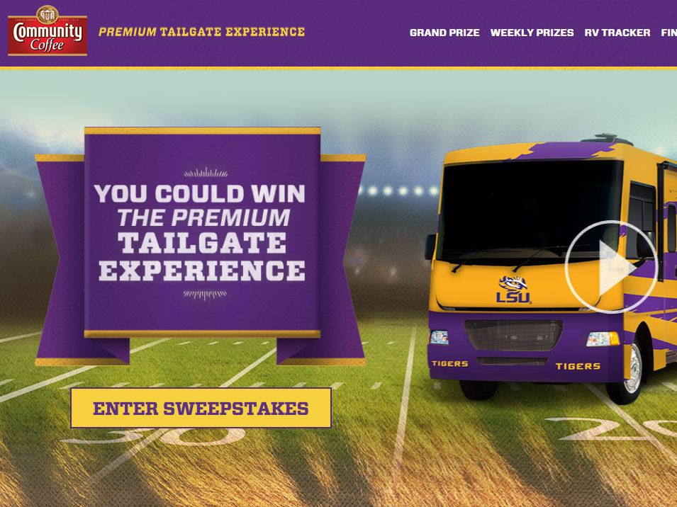Community Coffee Premium Tailgate Experience Sweepstakes