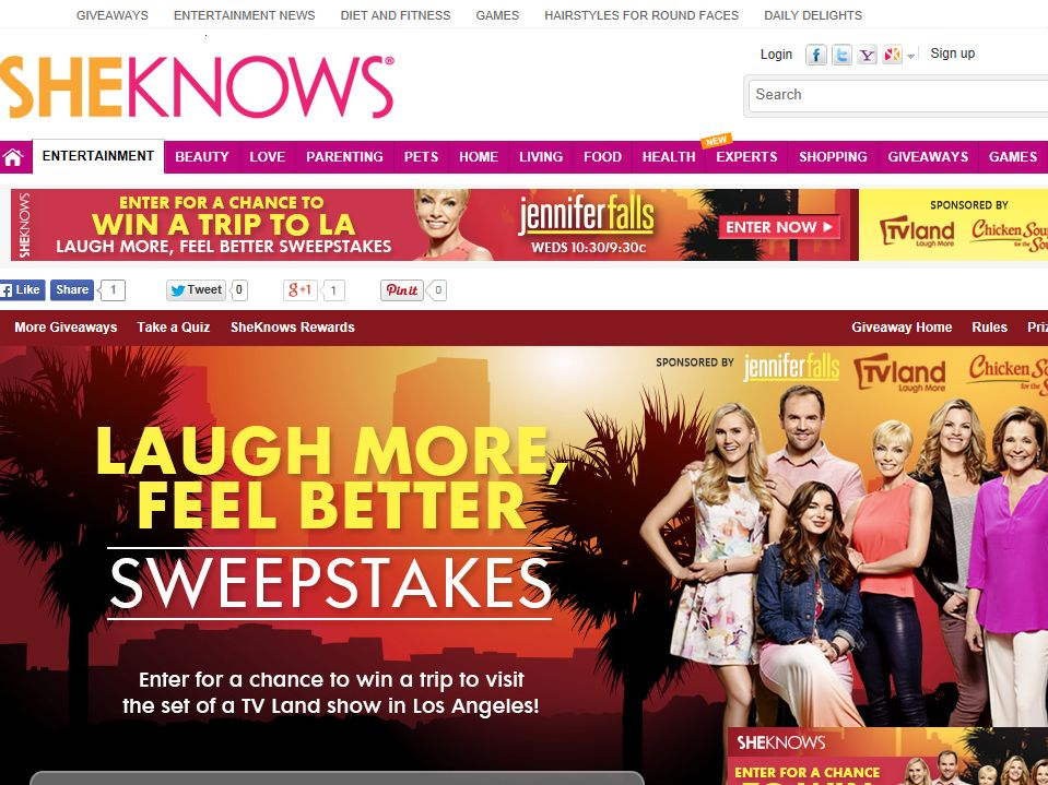 SheKnows Laugh More, Feel Better Sweepstakes
