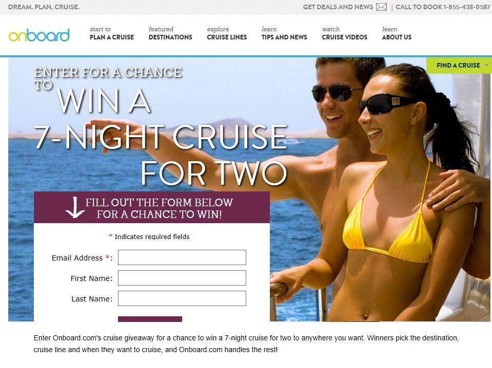 OnBoard Cruise Giveaway 2014 Sweepstakes