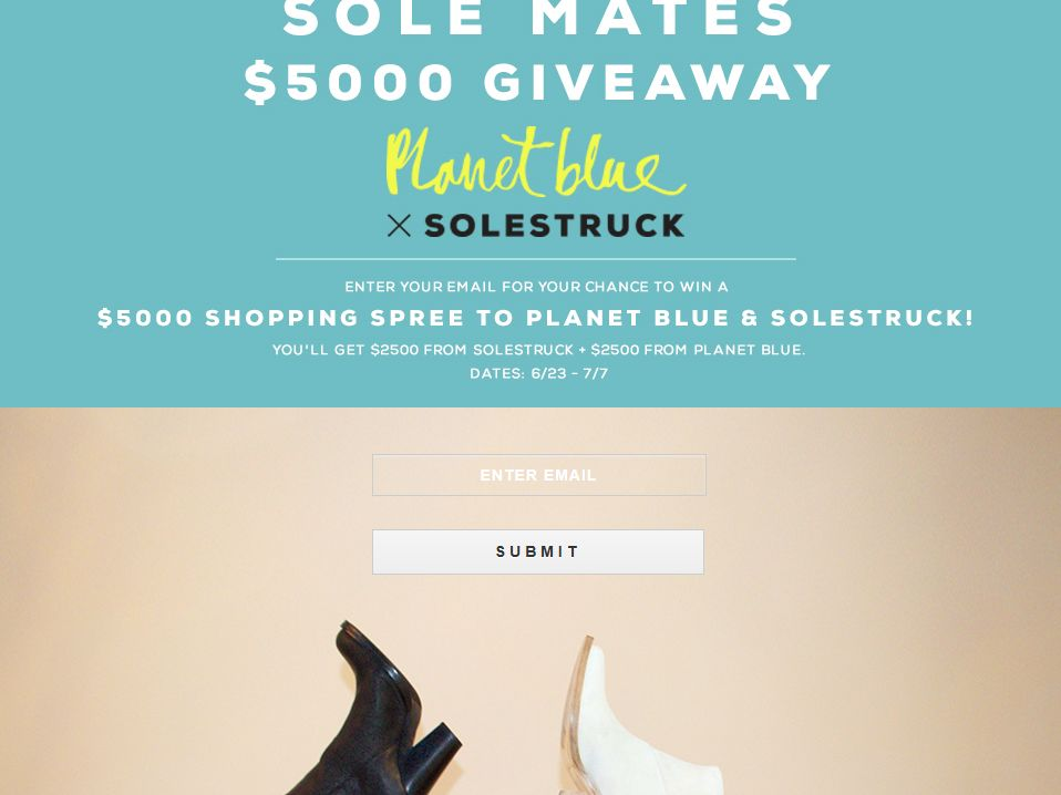 Planet Blue Planet Blue x Solestruck Giveaway Sweepstakes