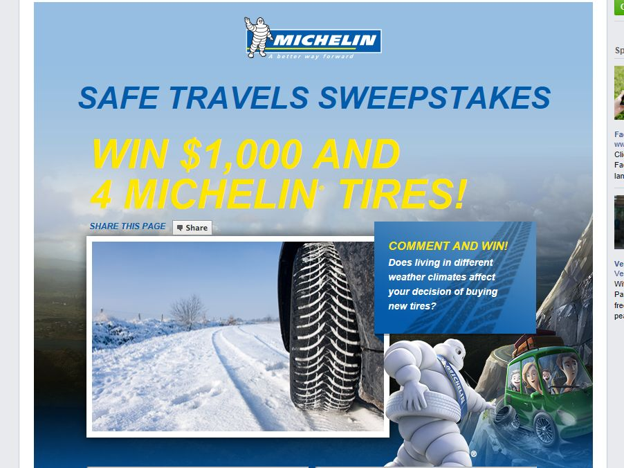 Parents Magazine Michelin Safe Travels Sweepstakes