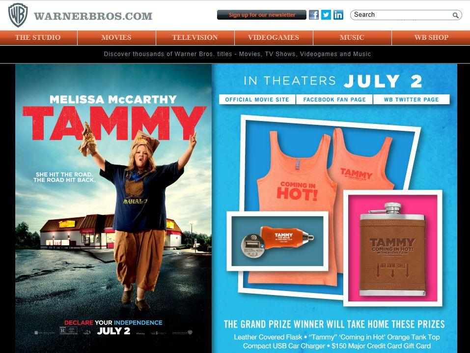 Warner Bros. TAMMY Sweepstakes