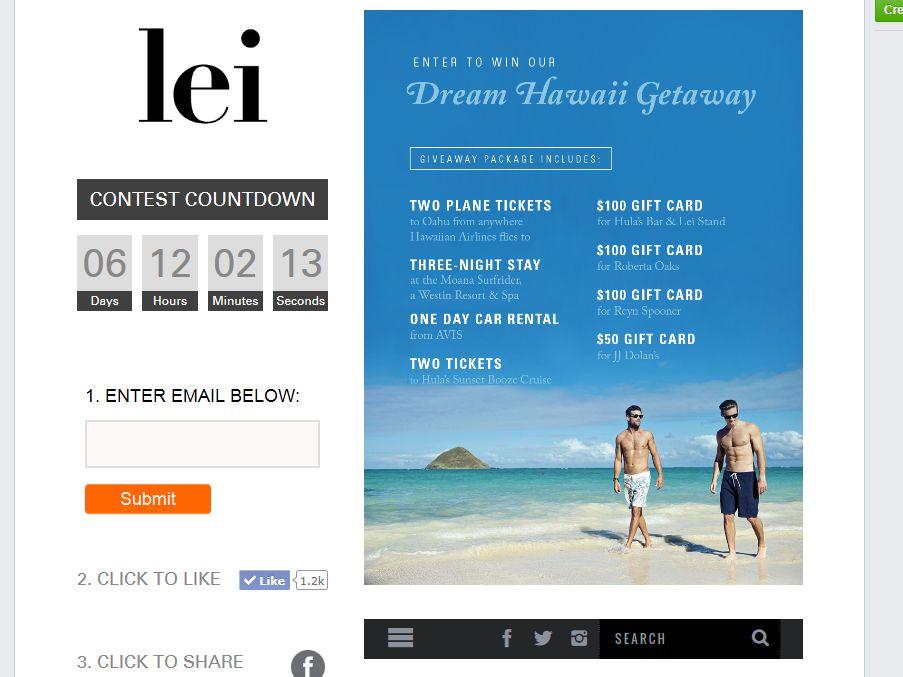 Lei Magazine Sweepstakes