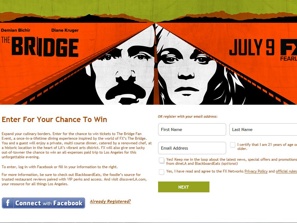 The Bridge Fan Event Sweepstakes