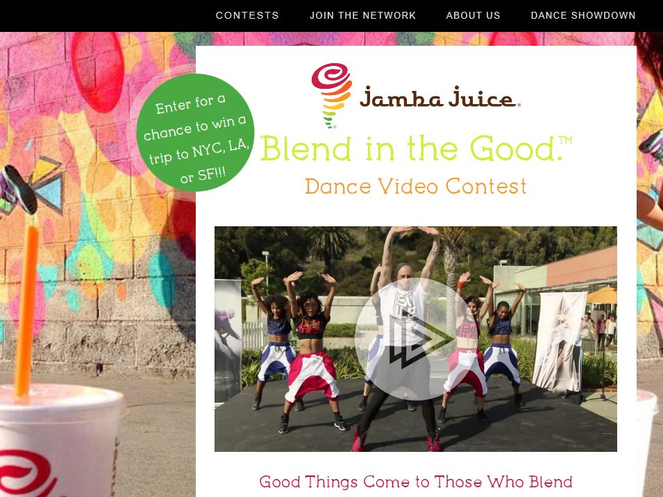 "DanceOn Jamba Juice ""Blend In The Good"" Contest"