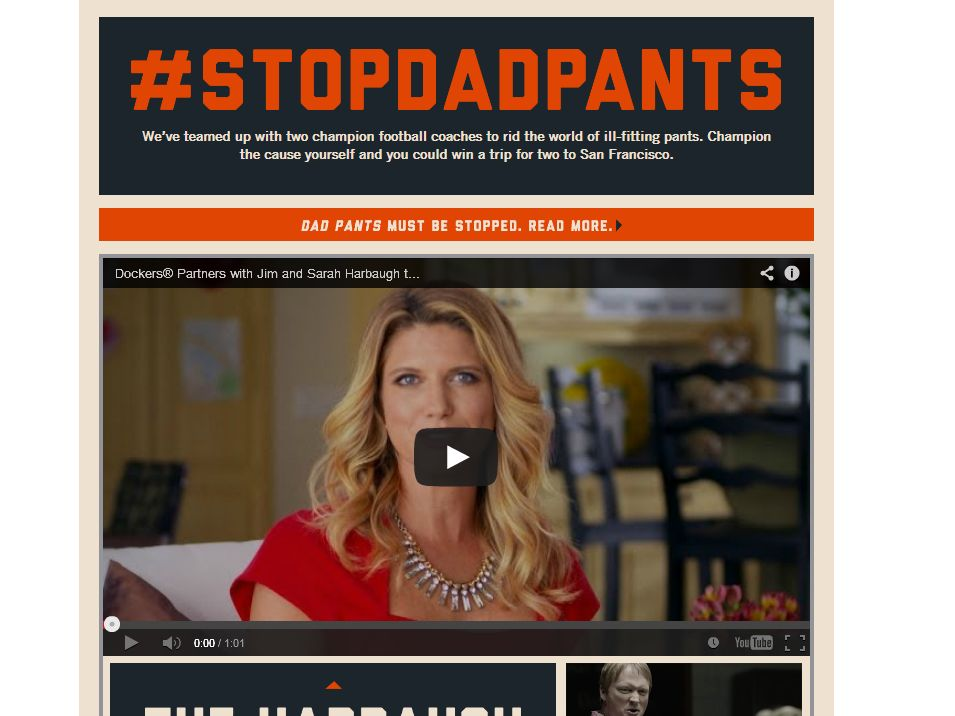 Dockers Stop Dad Pants Sweepstakes