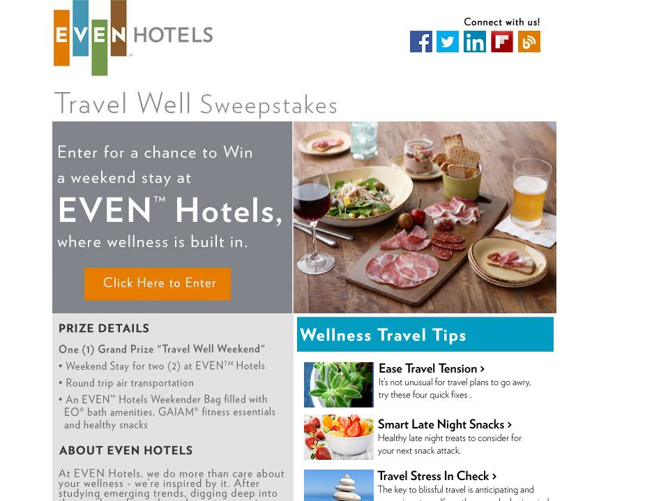 EVEN Hotels Travel Well Sweepstakes