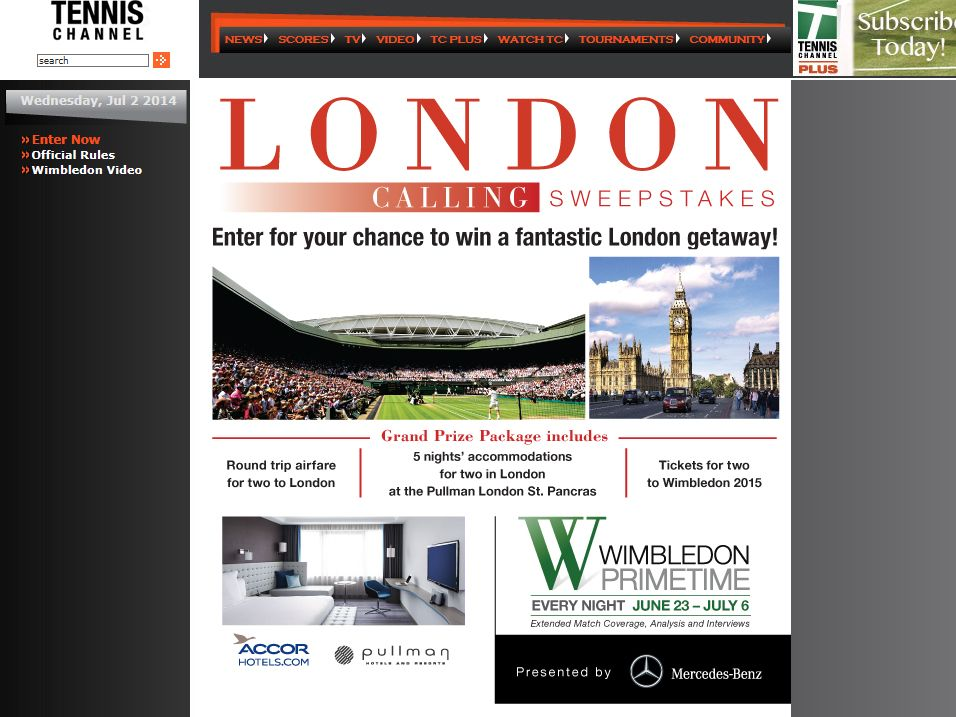 The 2014 London Calling Sweepstakes