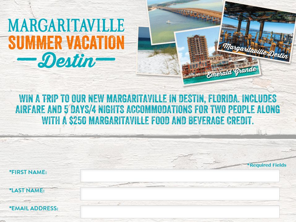Margaritaville Destin Vacation Sweepstakes