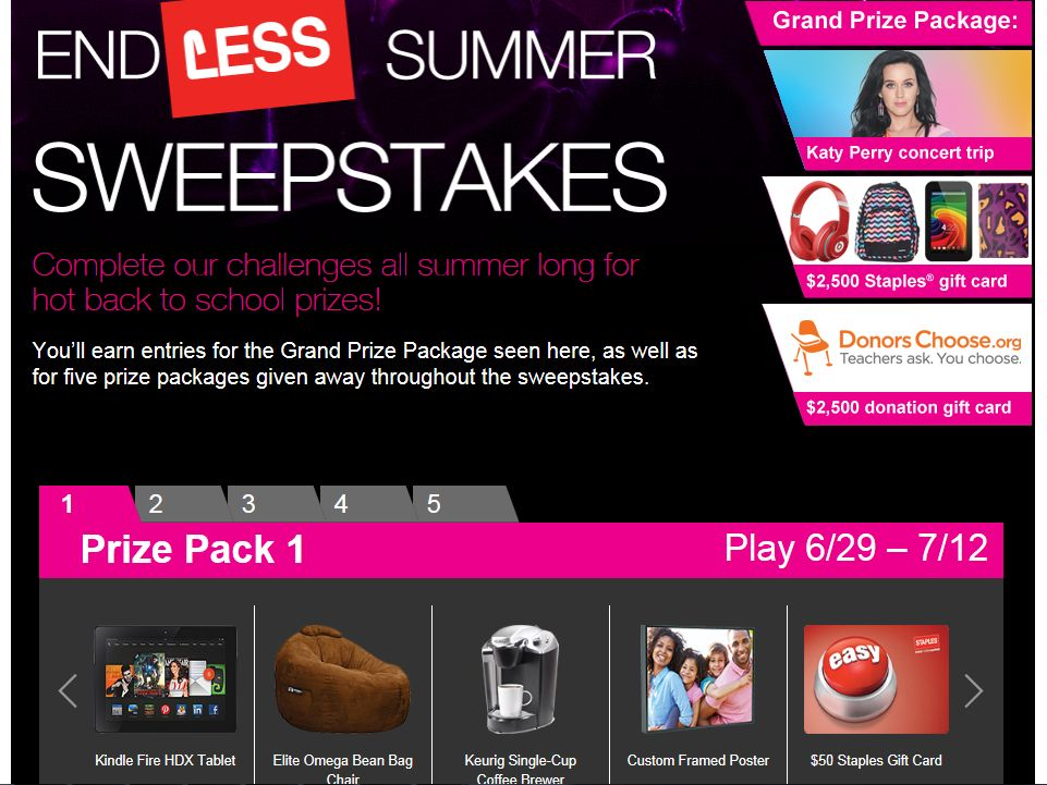 Staples endLESS Summer Sweepstakes