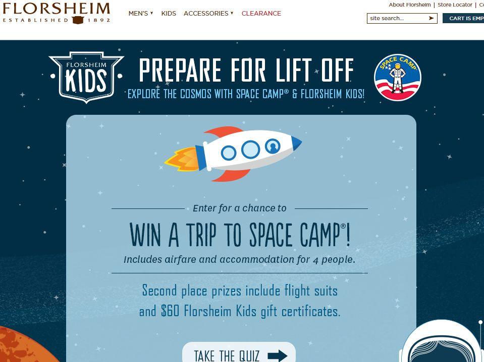 FLORSHEIM Kids: 2014 Space Camp Sweepstakes